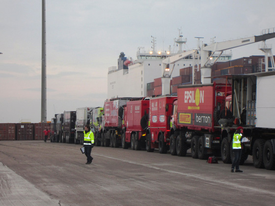 Dakar 2012: Embarque en Le Havre