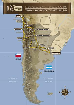 Epsilon Team: Dakar 2011   Recorrido y Novedades